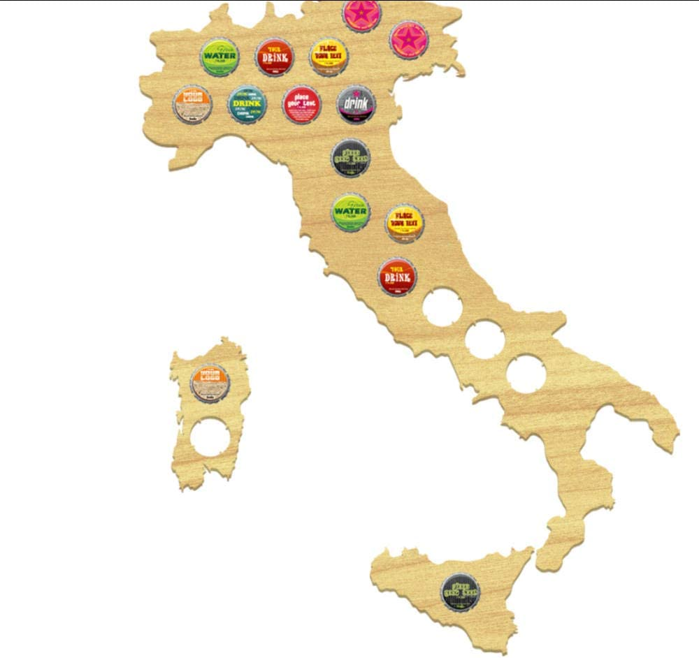 JHJUH Beer Cap depot Map Bottle Italy Superior Collection