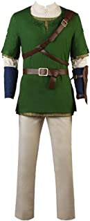 CospayDiy Men's Suit for The Legend of Zelda Twilight Princess Link Cosplay Costume