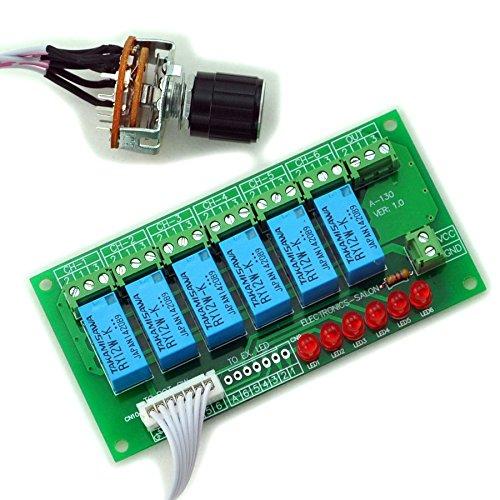 Electronics-Salon 6 Channel Unbalanced stereo o selettore di ingresso audio mono bilanciato modulo relè.