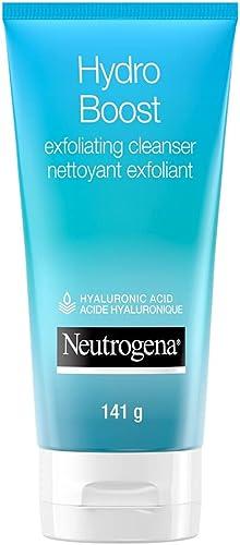 Neutrogena Hydro Boost Exfoliating Face Scrub - Hyaluronic Acid and AHA - Gel Cream Face Cleanser - Non-Comedogenic -...