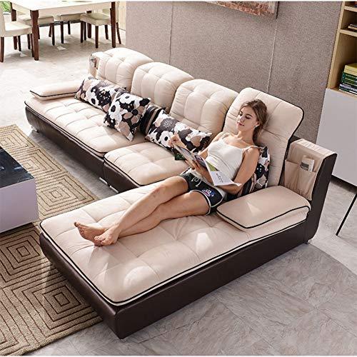 JINPENGRAN Sofá de la Sala de Estar - Sofá - Sofá de Tela de Moda - Juego de combinación - Muebles de cafetería - Sofá Simple de Ocio,Natural