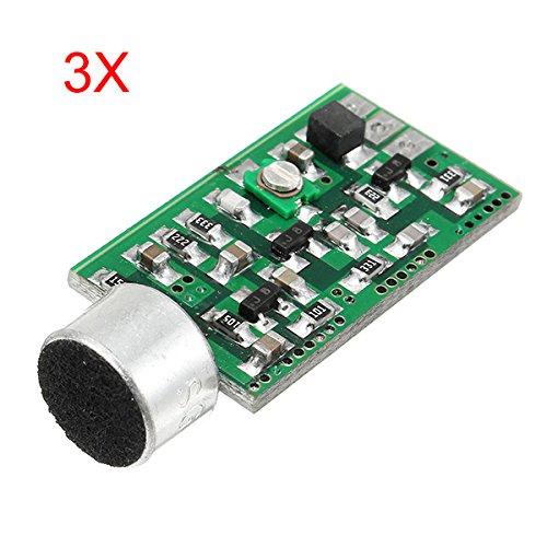 ILS - 3 stuks FM draadloze microfoon Pickup Wireless Audio Transmitter FM Emission MIC Coreboard V4.0 100MHz