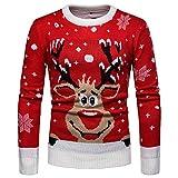 frauit maglione natalizio renna uomo natale uomini maglioni pullover girocollo maglieria manica lunga sweatshirt invernale outdoor casual sportiva top ragazzo natalizio natalizi natalizia