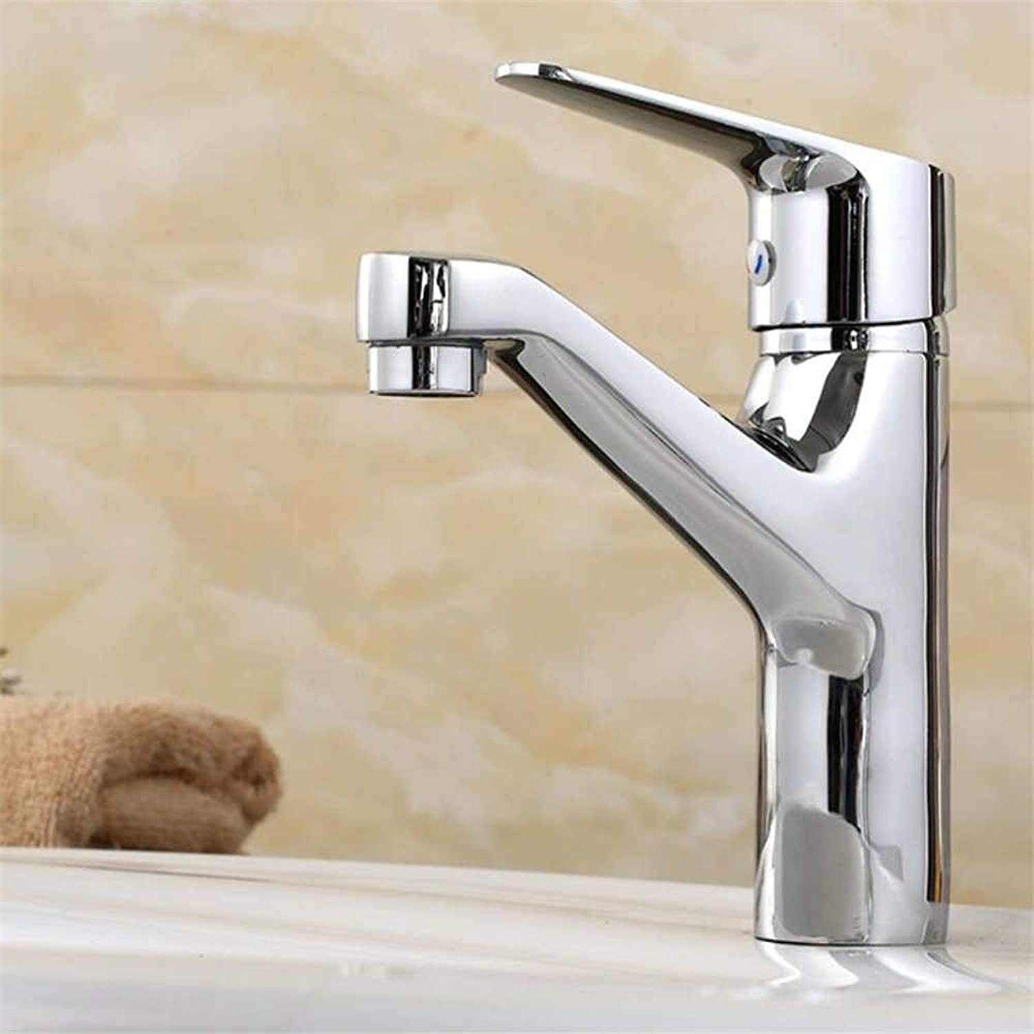 Basin Mixer Tap Bathroom Bathroom Washbasin Faucet Copper Hot and Cold Single Hole Wash Basin Faucet