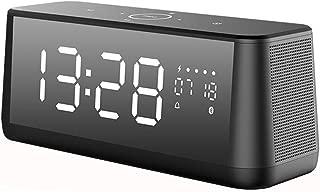 GLJJQMY Bluetooth Audio Super Bass Alarm Clock Desktop Computer Mirror Sound Wireless Subwoofer Audio (Color : Black)
