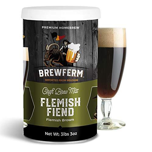 Brewferm Flemish Fiend Brew Mix - 12 liters/3 gal - 6.8% ABV - Premium Homebrew Craft Brew Mix