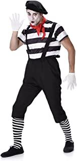 Men's French Mime Artist Costume