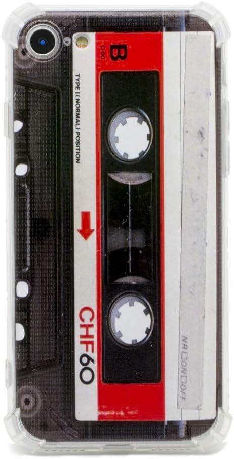 TNCYOLL iPhone SE 2020 Case Music Cassette Tape Retro Vintage 80S Shock Proof Bumper Phone Cover Compatible with Apple iPhone SE 2020 /iPhone 7 Case/iPhone 8 case (Old Cassette)