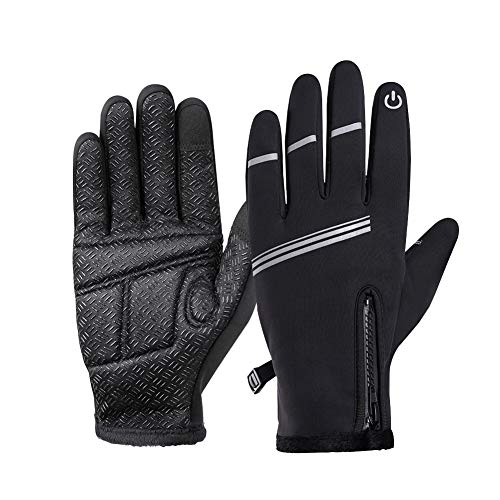 Winter Gloves for Men and Women,-20°F Thermal Gloves, Anti-Slip Silicone Gel, Touch screen, Water Resistant Windproof Warm Gloves for Driving Cycling Running