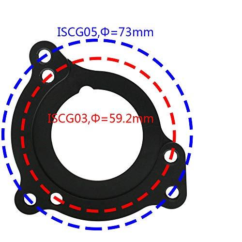GANOPPER 1X 2X E-Typ BB-System Mountainbike-Kettenführung Bashguard MTB-Kettenfängerprotektor ISCG03 ISCG05 mit BB-Adapter (Blau) - 3