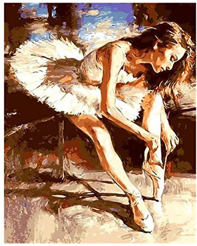 Yzqxiongtu Bailarina de Ballet Atar Cordones de los Zapatos Rompecabezas Juguetes 1000 Piezas, Rompecabezas de paisajes de Madera, Rompecabezas para Adultos Juegos educativos para niños