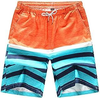 Men's Boutique Geometric Printed Leisure Beach Shorts Ethnic Style Mens Drawstring Leisure Pant Male