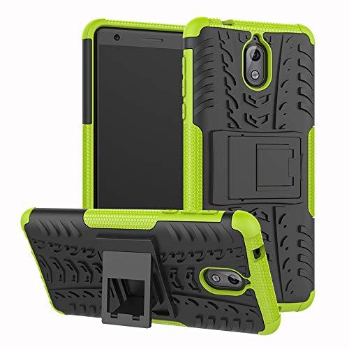 Labanema Nokia 3.1 2018 Hülle, Abdeckung Cover schutzhülle Tough Strong Rugged Shock Proof Heavy Duty Case Für Nokia 3.1 2018 - Grün