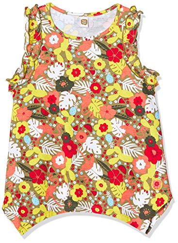 Tee-Shirt en Jersey IMPRIMÉ Fille Rouge Tropical Jungle