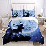 Funda de almohada de microfibra de poliéster y juegos de sábanas de 3 piezas juego de cama Pokémon juego de cama