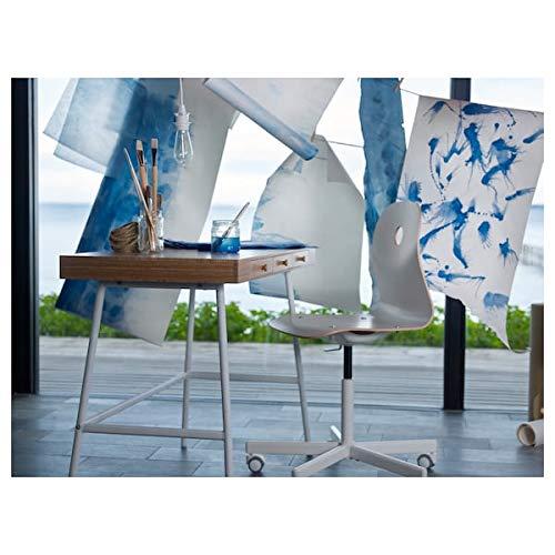 Tok Mark Traders PÅHL - Escritorio de bambú (102x49 cm, resistente y fácil de cuidar, para el hogar, escritorios de ordenador, mesas y escritorios, muebles ecológicos