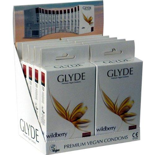 Glyde Ultra Wildberry: 10 x 10 veganistische condooms, speciale aanbieding