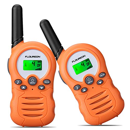 floureon Walkies Talkie for Kids 2 Set Two Way Radio Toy Walky Talky 22 Channel Long Range Distances Children Gift for 3-12 Years Old (Orange)