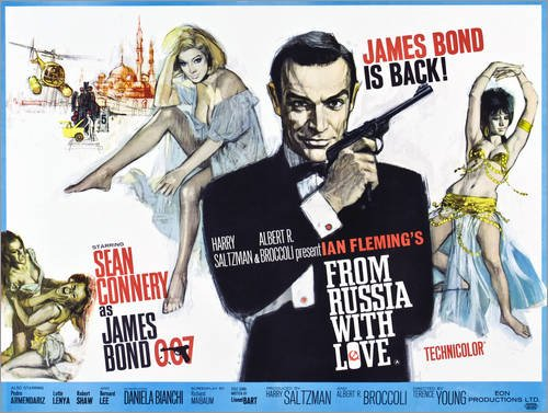Posterlounge Stampa su PVC 70 x 50 cm: from Russia with Love di Everett Collection