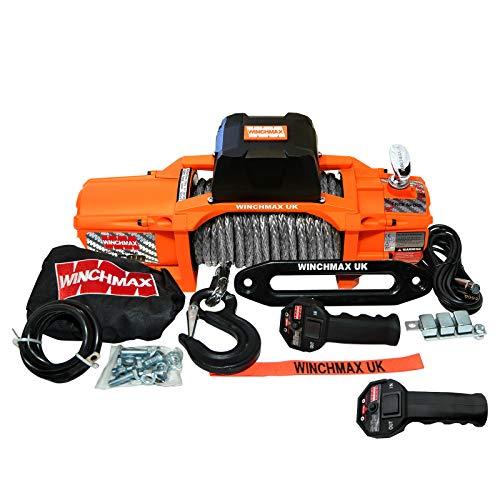 WINCHMAX SL Series Elektrische Seilwinde, 6,123 kg, Orange, 24 V, Dyneema-Seil, kabellos