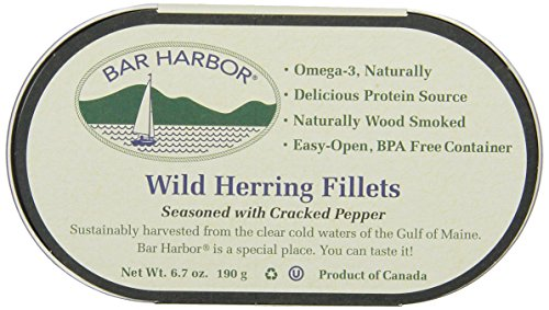 Bar Harbor Wild Herring Fillets, Cracked Pepper, 6.7 Ounce (Pack of 12)