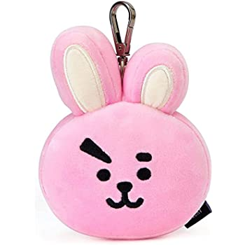 BT21 Official Merchandise by Line Friends - Cooky Character Doll Face Keychain Ring Cute Handbag Accessories