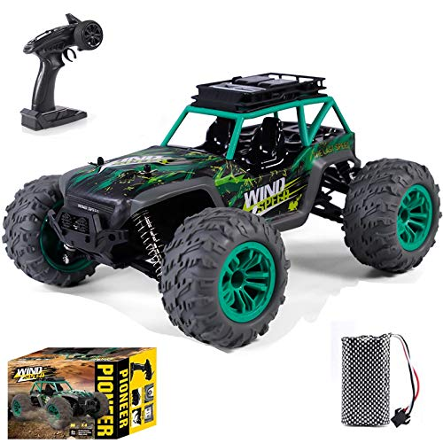 Crasoldiers Remote Control Monster Trucks 4x4 4WD 1/14 Hobby Grade 36KM/H Big RC Off Road Car Best All Terrain Waterproof Electric Cars for Kids Boys and Adults