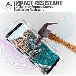 iTURBOS Verre Trempé pour Samsung Galaxy S9, [Lot de 2] Protection Film Anti-Rayures, sans Bulles, Dureté 9H, 3D Incurvé Protection Écran pour Samsung Galaxy S9