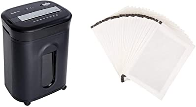AmazonBasics 15-Sheet Cross-Cut Paper, CD Credit Card Office Shredder & SP24 Paper Shredder Sharpening & Lubricant Sheets...