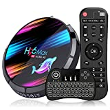 Android 9.0 TV Box 4GB 32GB EstgoSZ H96 Max X3 Android TV Box Amlogic S905X3 64-bit A55 CPU G31 GPU Support 2.4G/5G Wifi/1000M LAN/BT 4.0/USB3.0/H265/HD2.1/3D 4K/8K Smart TV Box with Wireless Keyboard