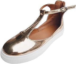 Casual Shoes Women Vintage Out Shoes Round Toe Platform Flat Heel Buckle Strap Flat Sandals