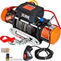 VEVOR ATV UTV Winch Kit Truck Winch 13000LBS 12V Electric Winch with 85FT Synthetic Rope, Black Wireless Remote Control, Powerful Motor Compatible with UTV ATV & Jeep Truck Wrangler