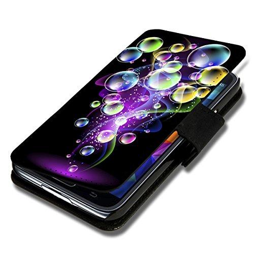 wicostar Book Style Flip Handy Tasche Hülle Schutz Hülle Schale Motiv Foto Etui für LG Bello 2 / Bello II - Flip X16 Design8