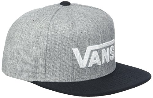 Vans Jungen Drop V II Snapback Kappe, Grau (Heather Grey-Black Hgb), One Size