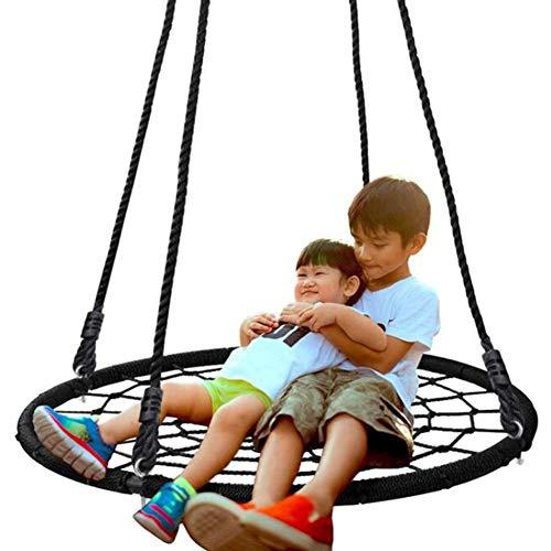 Balançoires YXX Nid D'oiseau Jardin Extérieur Enfants/Audlts d'arbre en Toile d'araignée 40 Pouces, Capacité de Poids de 440 LB, Cadre en Acier Durable, Étanche, Cordes PE Ajustables