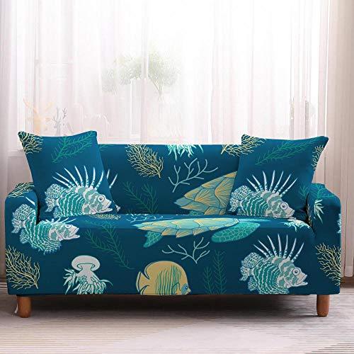 Nannan Sea dierlijke kleur gedrukt strakke wrap elastische sofa cover, L-vormige hoekbank kan in de machine worden gewassen