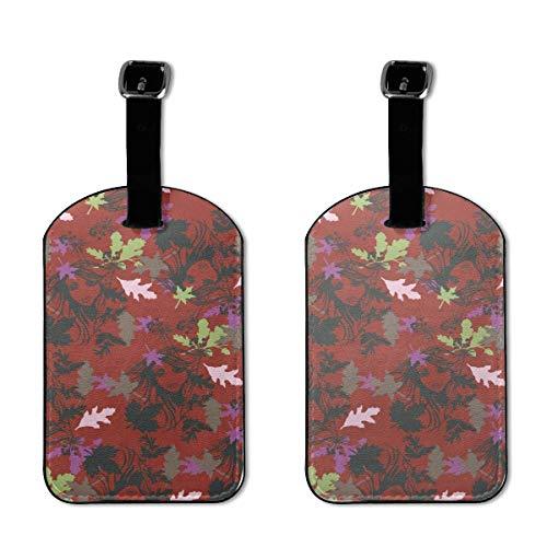 Colorido gatito abstracto sandía plátano etiquetas de piel sintética, diseño de maleta de viaje con tapa de privacidad de 2 piezas
