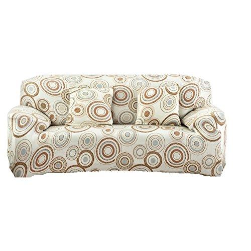 Fanjow Stretch Sofa Schonbezug, Sofa, Stuhl abdeckt, Elastischer Schonbezug für Sofa aus Polyester, Spandex, Bettüberwurf ohne Kissen, Dream Circle, 2-seat Loveseat