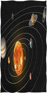 rodde 30 x 15 Pouces by Hotel Spa Gym Sport Système Solaire Espace Sun Moon Planet Serviette de Bain Main Doux Visage Chif...