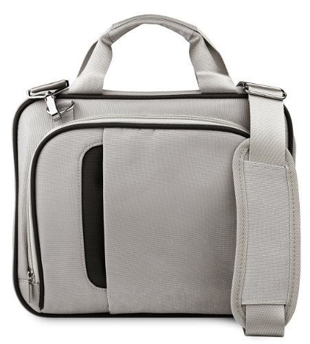 VanGoddy Pinn Silver Black Messenger Bag Suitable for Apple iPad All Generations and Series Up to 10.8inch