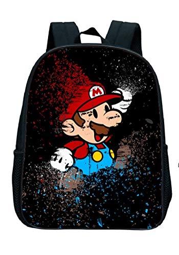 LINGJIA Super Mary Schoolbag 12 Inch Set Hot Game Super Mario Smash Bros Children Backpack Bag Kindergarten Girls Boys Gifts Cute Cartoon Kids School Bags