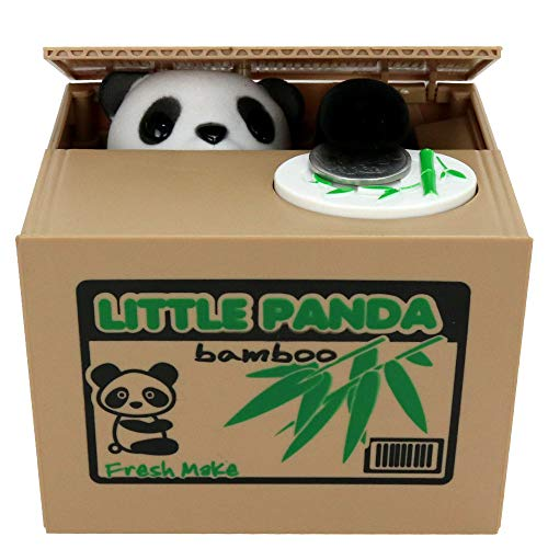 Nother Panda /Bear Stealing Piggy Bank,Coin/Cents Penny Bank for Money Saving ,Great Birthday Gift for Kids of All Ages