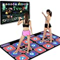 Double Dancing Mat,Double User Wireless Dance Mat Game TV Non-Slip + 2 Remote Controller,Multi-Function Games & Levels,Sense Game for PC TV,Best Gift for Adults Kids from Kids Slide