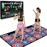 YUWEX Drahtlose doppelte Tanzmatten 95 x165 cm rutschfest Tänzer Matte Kissen Gefühl Spiel Yoga Spiel Decke Tanzmatten für Erwachsene Kinder HD Fernsehcomputer