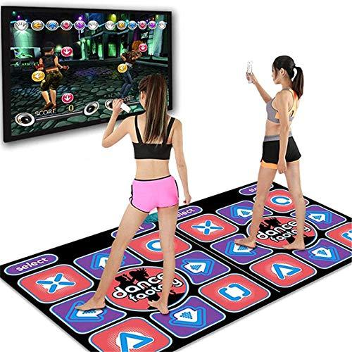 TWIOIOVE Tanzmatten Musikmatte, Tanzfläche zum PC und TV, Yoga-Matte Wireless Dancer Step Pads Sense Spieldecke Spielzeug Musik Matte, Matten Spielteppich Tanzmatte für Kinder Erwachsene (As shown)