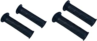 Perfk 4PCS Rubber Hand Grips For Bike, Tricycle Bike, Wheelbarrow, Lawn Mower, Cart