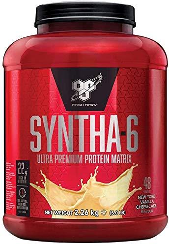 BSN Syntha 6 Proteine Whey in Polvere, Cheesecake alla Vaniglia, 2.26 kg, 48 Porzioni