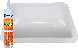 Class A Customs Premium Heavy Duty RV Camper Trailer Skylight - 18 x 26 OD / 14 x 22 ID White - Install Kit CS