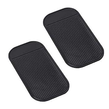 Radar Detector Dash Mat - Anti-Slip Magic Pad Car Dashboard Non Slip Mat Dashboard Magic Mounting Pad for Radar Detector Passport 9500ix Escort Cobra Beltronics Whistler Cell Phone  2 Pack