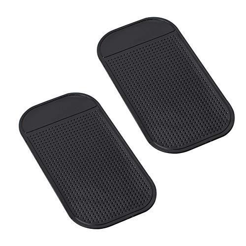 Radar Detector Dash Mat - Anti-Slip Magic Pad, Car Dashboard Non Slip Mat Dashboard Magic Mounting Pad for Radar Detector Passport 9500ix, Escort, Cobra, Beltronics, Whistler, Cell Phone (2 Pack)